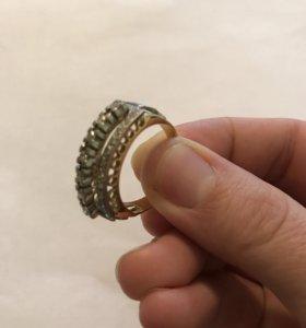 Кольцо мужские из бриллиантов,проб 750
