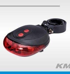 Стоп задний плоский красный KMS JY-1L (+ 2 лазера)