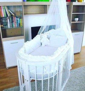 Кроватка детская трансформер 6в1