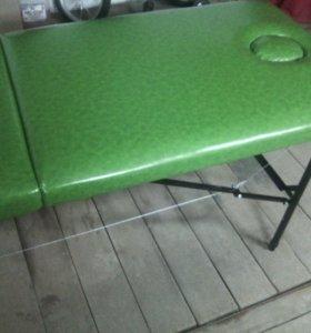 Массажный стол складной зелёный