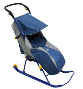 Санки-коляска с колесиками
