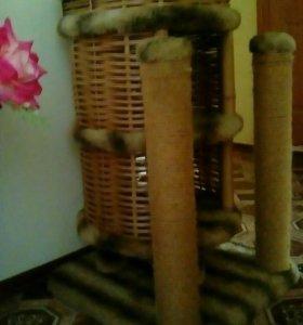 Кошкин домик с когтеточками