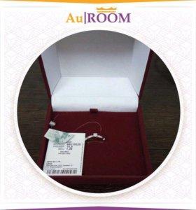Серебряное кольцо с фианитом 15.5 размер