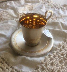 Чашка с блюдцем / кофейная пара мельхиор