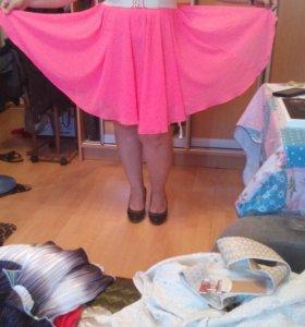 Новое розовое платье 44-50р.