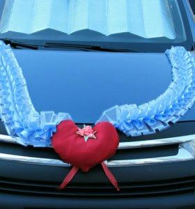 Свадебный набор украшений на машину
