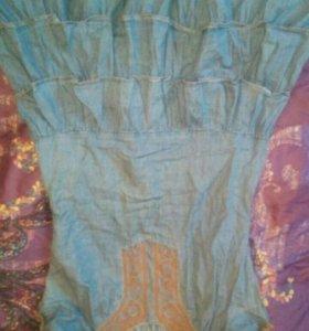 Джинсовое платье gloria