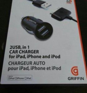 Автомобильное зарядное устройство для IPhone, IPod