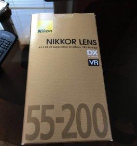Объектив af-s nikkor 55-200mm 1.4-5.6g ed