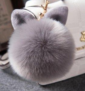 Меховой брелок. Ушки