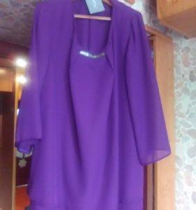 Дизайнерская блуза-туника, 50-52