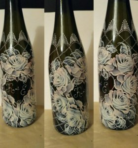 Роспись бутылок, бокалов