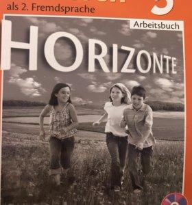 Немецкий язык рабочая тетрадь 5 класс горизонты+CD