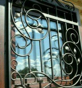 Решётки кованые на окна .