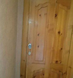 Железная дверь с замком и второй дверью