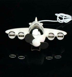 Самолётик-вентилятор-разветвитель на 4 USB.
