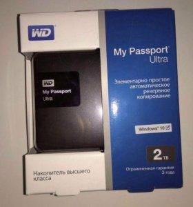 Внешний жесткий диск WD MyPassport Ultra 2TB