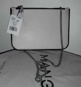 Новая бежевая сумка на цепочке ф. Mango