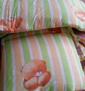 Балдахин с бортиками на детскую кровать