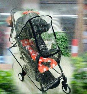 Дождевик на коляску с окошком