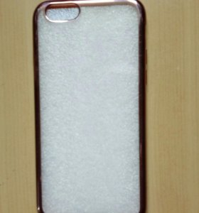 Iphone 6,6S бампер с золотом и со стразами