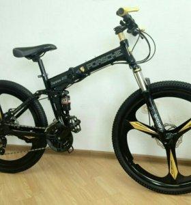 Велосипед складной порш черный