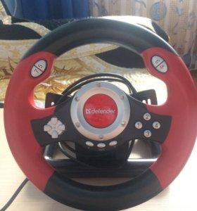 Игровой руль defender + педали и крепление.