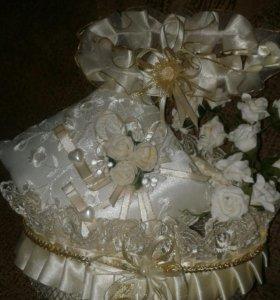 Свадебные аксессуары для шампанского,подушечка