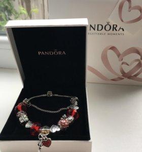 Красный браслет pandora
