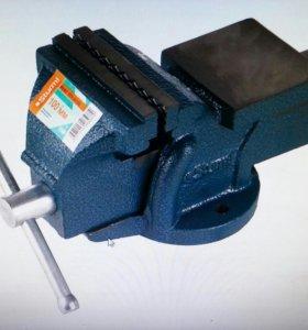 Тиски слесарные 100 мм, усиленные с наковальней