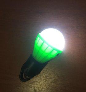 Светодиодная лампа на батареях