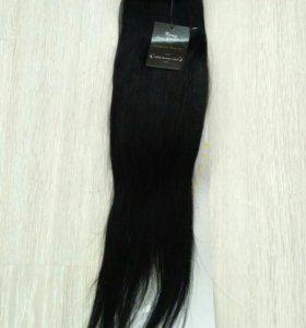 Волосы натуральные на заколках новые