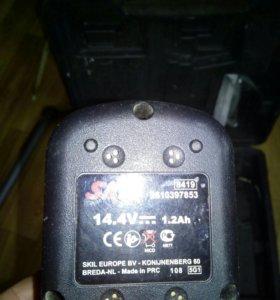 Аккумуляторные батареи 1,3 Ah 14,4, кейс skil