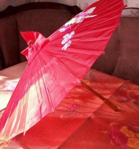 Детский бамбуковый зонт в японском стиле, летний