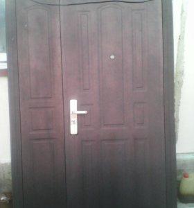 Дверь входная железная б/у