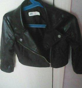 Кожаная Куртка для модницы