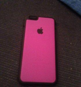 Чехол розовый на iPhone 6