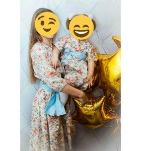 Комплект платьев мама+дочь(family look)