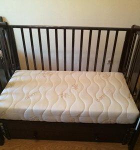 Кровать детская трансформер + матрас