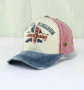 """Бейсболки джинсовые """"британский флаг"""""""