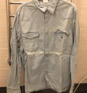 Рубашка мужская джинсовая