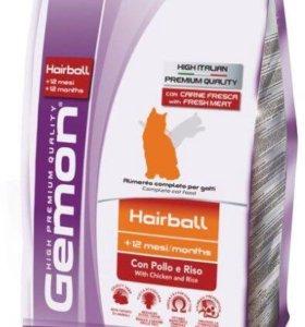 Gemon Cat Hairball корм для выведение шерсти