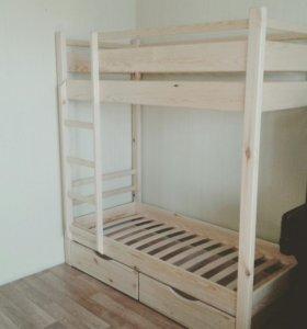 Детская кровать из массива сосны