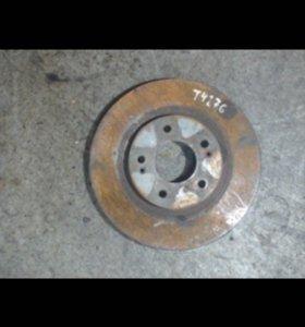 Запчасти  Санта Фе 2 диски тормозные 2шт вентелиру