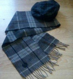 Мужская кепка и шарф