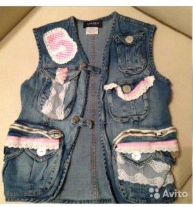 🐶 Оригинальный джинсовый Жилет