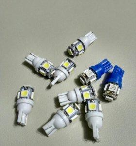 Светодиодные лампочки габаритных огней ВАЗ 2114