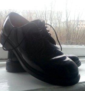 Военные ботинки лакированные