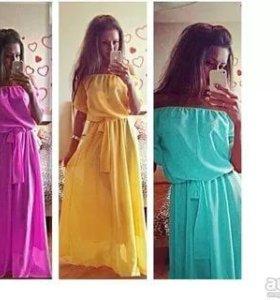 Розовое платье р 42-46