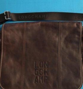 Новая Кожаная сумка Longchamp оригинал